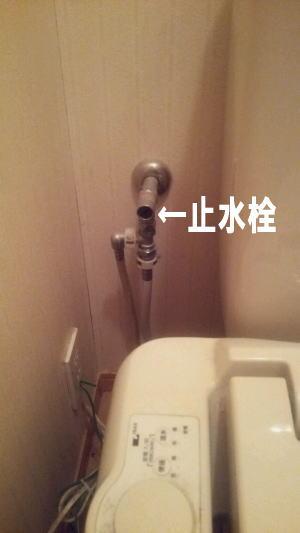 トイレの止水栓を閉める