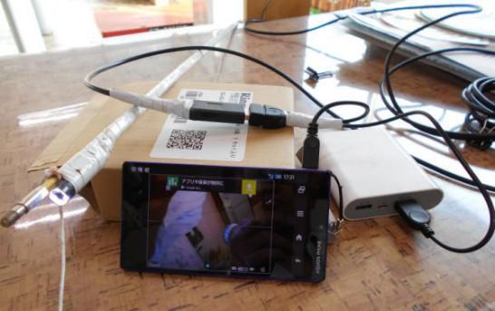 スマホにUSBファイバースコープつないで録画する方法(スマホにUSBエンドスコープをつないで、スマホで動画、静止画を録画する方法)