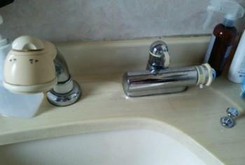 TOTO製洗面台用洗髪サーモ混合栓TL846AX