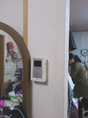 壁にwifi親機を取り付け(現状)