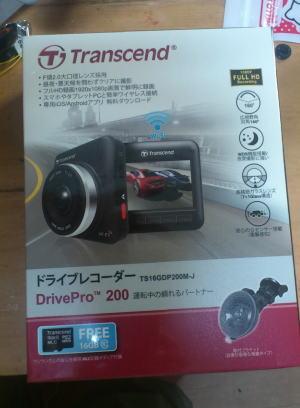 Transcend(トランセンド)製のドライブレコーダーDrivePro 200 TS16GDP200M-J