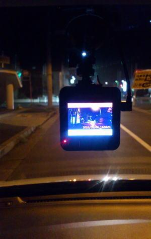 夜間もかなり鮮明に録画できます