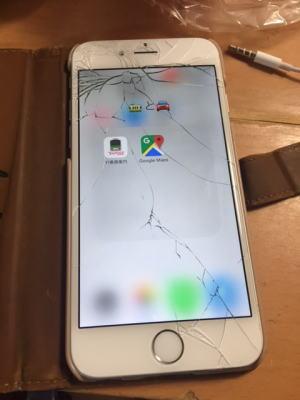 アイフォン6(iPhone6)のガラスが割れました。