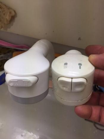 新しいシャワーセパレータ(THC18R)を取り付けます