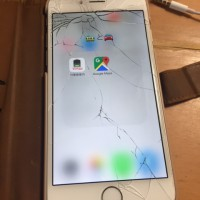 iPhone6の割れたガラスを自分で交換