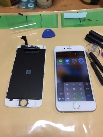 iPhone6の割れたガラスを自分で交換(完了)