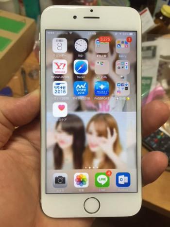 アイフォン6の画面(液晶)を交換したらシマシマがなおりました