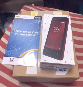 格安スマホのgoo06+(グーマルロクプラス)+OCNモバイルONE(データ通信専用SIM SMSなし)でテスト運用