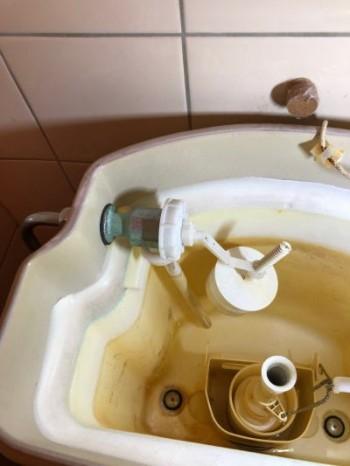TOTOのデザイン便器ロマンシア(ROMANCIA タンクの型式:S830B)の水(タンク内への給水)が出なくなった