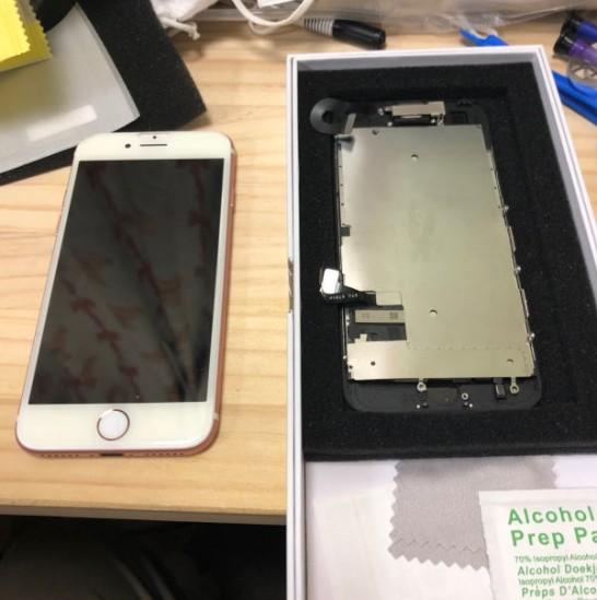 iPhone7のフロントパネルを自分で交換